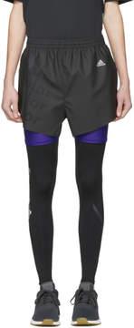 adidas x Kolor Black Coated Shorts