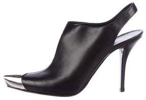 Helmut Lang 2004 Leather Slingback Booties