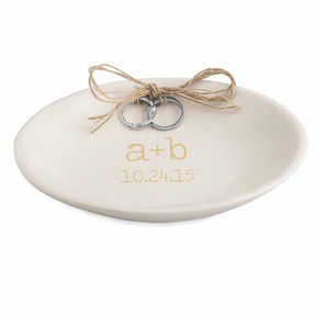 Cathy's Concepts CATHYS CONCEPTS Accented Personalized Wedding Ring Dish