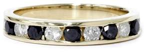 Black Diamond Pompeii3 1ct Treated Wedding 14K Yellow Gold Womens Channel Set Band