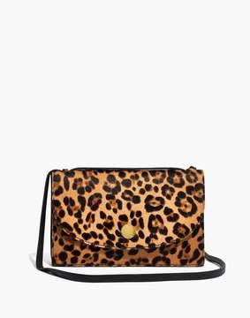 Madewell The Slim Convertible Bag in Leopard Calf Hair