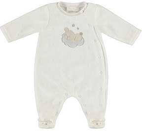 Mayoral Bunny on Cloud Velour Footie Pajamas, Size 4-12 Months