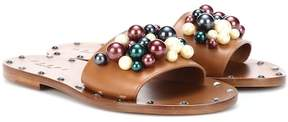 Marni Embellished leather slides