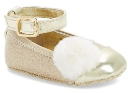 MICHAEL Michael Kors Infant Girl's Baby Lucy Faux Fur Crib Shoe