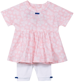 Jean Bourget Floral Baby Dress and Leggings Set