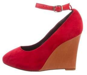 Celine Suede Pointed-Toe Wedges