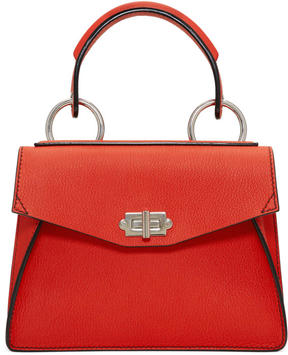 Proenza Schouler Red Small Hava Top Handle Bag