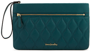 Vera Bradley Forest Green Quilted Mia Leather Wristlet - FOREST - STYLE