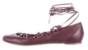 Nina Ricci Multistrap Leather Flats