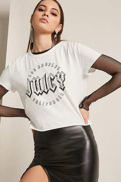 Forever 21 Juicy by Juicy Couture Raw-Cut Graphic Tee