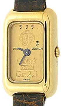 Corum Gold Ingot 18K Yellow Gold 2.5 gram 22mm Strap Watch