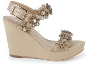 Zac Posen Brooke Leather Wedge Sandals