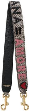 Dolce & Gabbana snake skin embossed applique bag strap