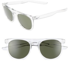 Men's Nike Flatspot 52Mm Sunglasses - Crystal Clear / Wolf Grey