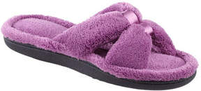 Isotoner Women's Microterry Satin X-Slide w/Memory Foam