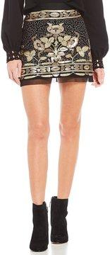 Chelsea & Violet Sequin Mesh Mini Skirt