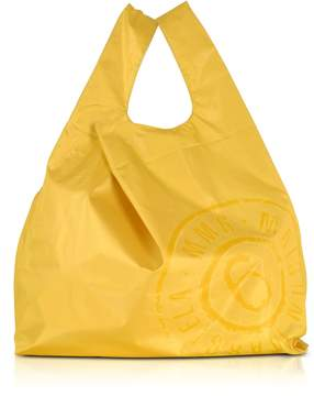 MM6 MAISON MARGIELA Mm6 Maison Martin Margiela Yellow & White Double Face Nylon Market Bag W/logo