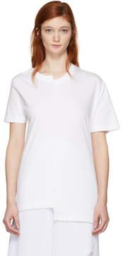Cédric Charlier White Fruit of the Loom Edition Asymmetric T-Shirt