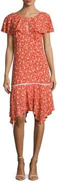 ABS by Allen Schwartz Women's Floral Capelet Dress