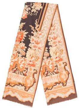 Etro Floral Wool Blend Scarf