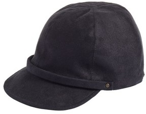 Eric Javits Women's Mika Packable Faux Suede Cap - Black