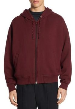 Alexander Wang Dense Fleece Zipper Hoodie