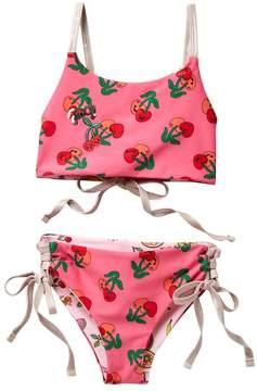 Juicy Couture Black Label Reversible High Neck Top & Bottom Swimsuit Set (Big Girls)