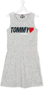 Tommy Hilfiger Junior TEEN logo printed dress