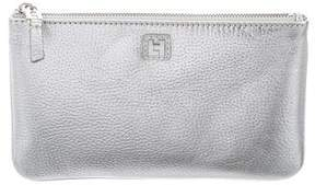 Lambertson Truex Metallic Leather Clutch
