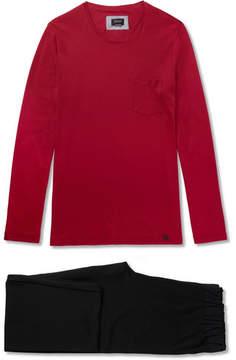 Hanro Cotton-Jersey Pyjama Set