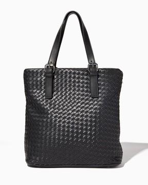Charming charlie Solid Basket Weave Tote