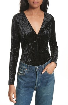 Twenty Women's Velvet Bodysuit