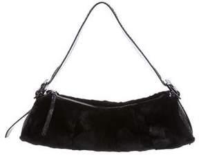 Tod's Snakeskin & Fur Shoulder Bag