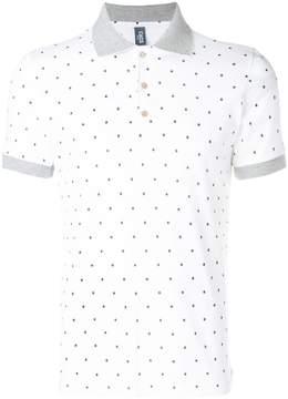 fe-fe star print polo shirt