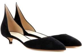 Francesco Russo Suede kitten-heel pumps