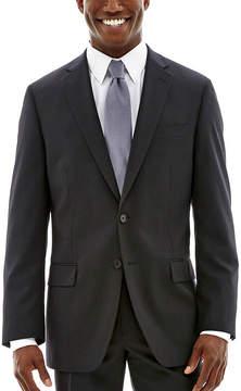 Claiborne Black Solid Stretch Suit Jacket - Classic Fit