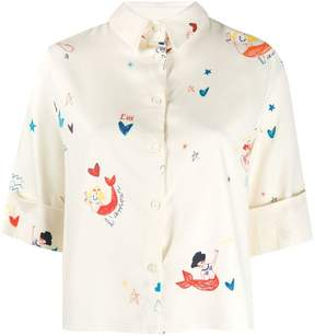 Chinti & Parker mermaid print blouse
