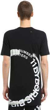 11 By Boris Bidjan Saberi Wheel Printed Cotton Jersey T-Shirt
