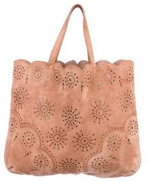 Alaia Studded Suede Tote