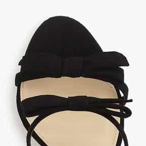 J.Crew Stella bow heels (100mm) in black