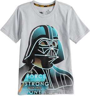 Star Wars A Collection For Kohls Boys 4-7x a Collection for Kohl's The Force Is Strong With This One Darth Vader Tee