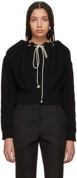 Calvin Klein Black Cropped Drawstring Sweater
