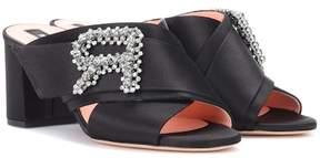 Rochas Embellished satin sandals