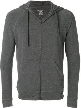 Majestic Filatures drawstring zipped hoodie