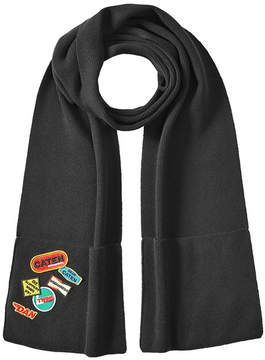 DSQUARED2 Wool Scarf with Patches