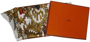 One Kings Lane Vintage HermAs Tuxedo Pleats Scarf with Box - The Emporium Ltd.