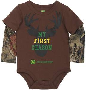 John Deere Baby Boy Mock-Layer My First Season Bodysuit