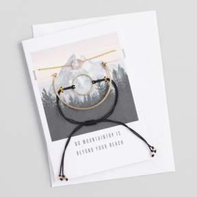 World Market Gold and Black Bracelets Gift Set with Greeting Card