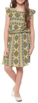 Dex Girl's Flutter-Sleeve Dress