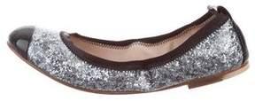 Bloch Cap-Toe Glitter Flats